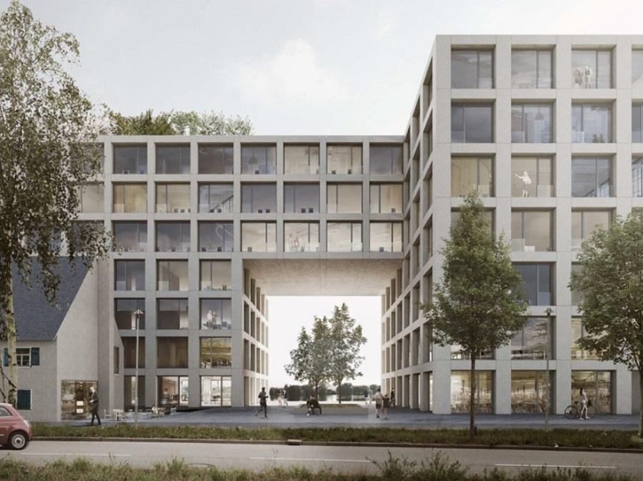 Straßenansicht Bürogebäude Rheingarten